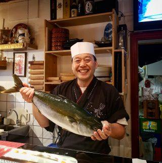 Sushi bar tatsumi chef