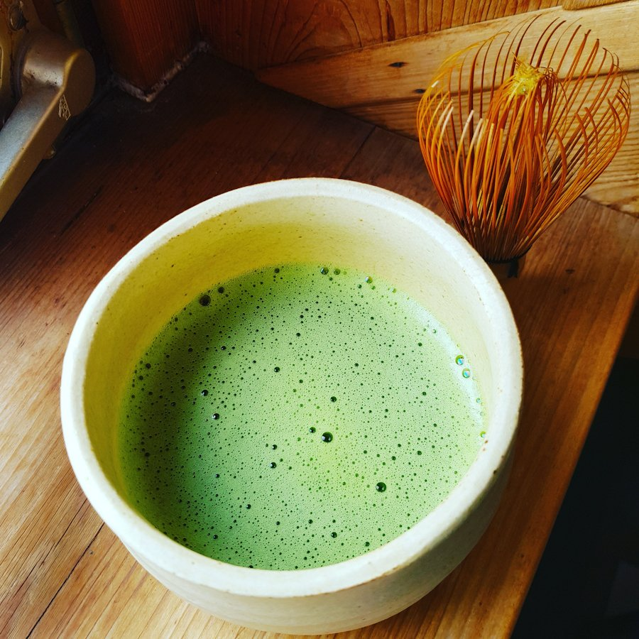 a cup of tea matcha